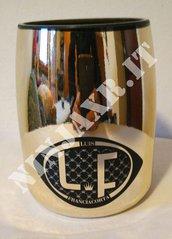 Vaso bottiglia Spumante Louis Franciacorta fatto a mano riciclo creativo arredo idea regalo