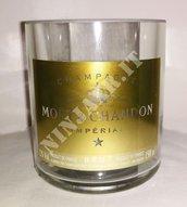 Vaso bottiglia champagne Moet & Chandon Magnum Imperial Brut fatto a mano riciclo creativo arredo