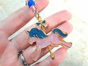 Portachiavi in Resina Uv // Unicorno Rosa e Azzurro con Glitter // Fatto a Mano ❤