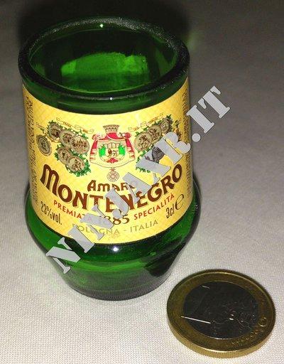Shot Short Amaro Montenegro bicchierino da bottiglia mignon
