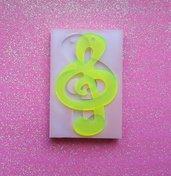 Stampo in gomma siliconica Chiave di Violino
