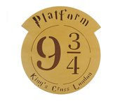 "Harry Potter inspired Platform 9 3/4"" King's cross station plaque"
