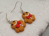 Orecchini in fimo ''Gingerbread''