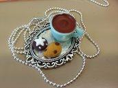 Catenina in fimo ''l'ora del té''