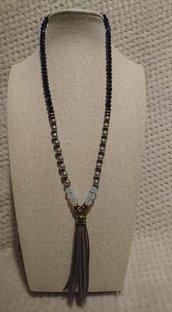 Collana in cristallo e perle sintetiche