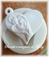 Stampo cuore angelo custode in gomma siliconica da colata