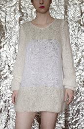 Maglione mohair effetto nuvola fatto a mano- UnicOrn