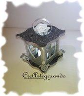 Lanterna decorativa argento/grigio