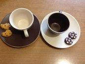 Tazzine da caffè fimo Pan di stelle e gocciole