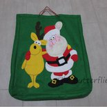 Sachetto regali Babbo Natale con renna