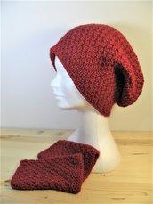 Berretto slouch e copripolsi abbinati - set berretto e scaldapolsi - berretto e guanti