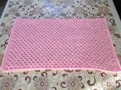 Copertina neonata, rosa, per culle e carrozzine