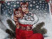 Federa cuscini per arredo con gattini