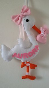 Inserzione riservata fiocco nascita cicogna Aurora