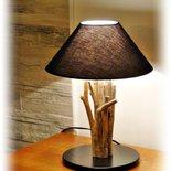 CHRISTINE lampada da tavolo con legni di mare,driftwood