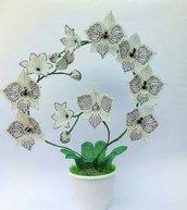 Orchidea fiori di perline