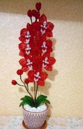 Orchidea fiori di perline fiori finti