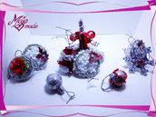 Addobbi natalizi in carta e alluminio