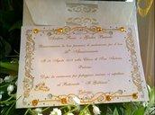 Invito Personalizzato Nozze d'oro personalizzato con busta e stampa omaggio