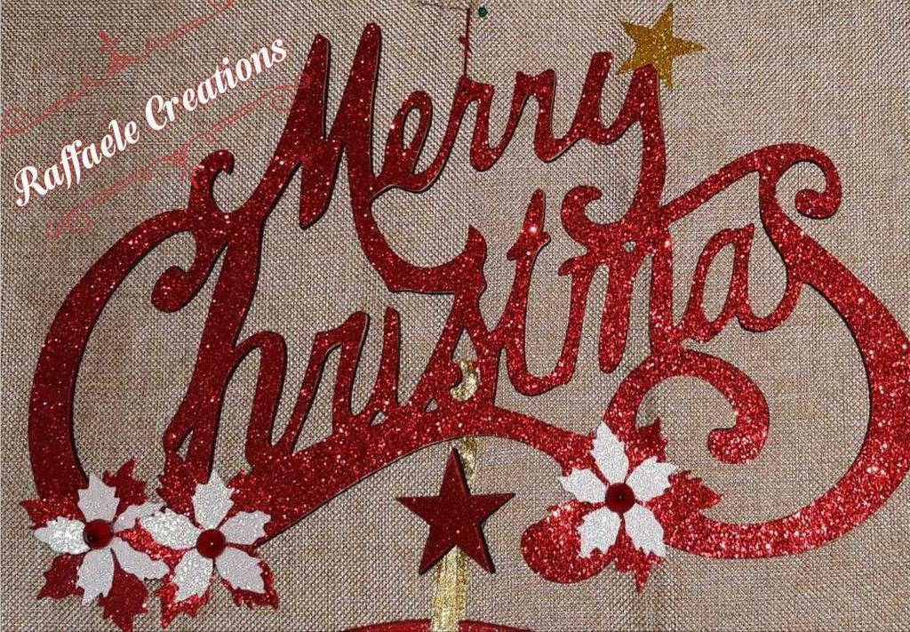 Fuoriporta Merry Christmas taglio laser