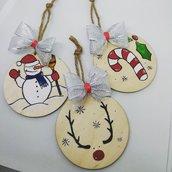 Palline Natale in legno