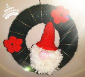 Ghirlanda all'uncinetto con Babbo Natale