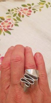 Anello regolabile in alluminio piatto battuto