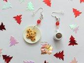 🎄 Orecchini biscotti e cioccolata calda for Santa 🎅