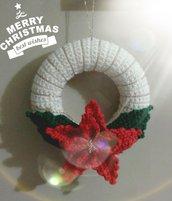 Ghirlanda Stella di Natale all'uncinetto