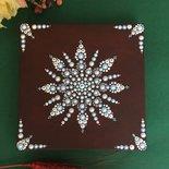 "Quadretto mandala. Mandala su tela dipinto a mano da appendere. ""Snowflake Mandala"""