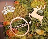 Decorazioni albero di Natale legno taglio laser