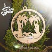 Decorazione natalizia Nativita' in 2D legno taglio laser