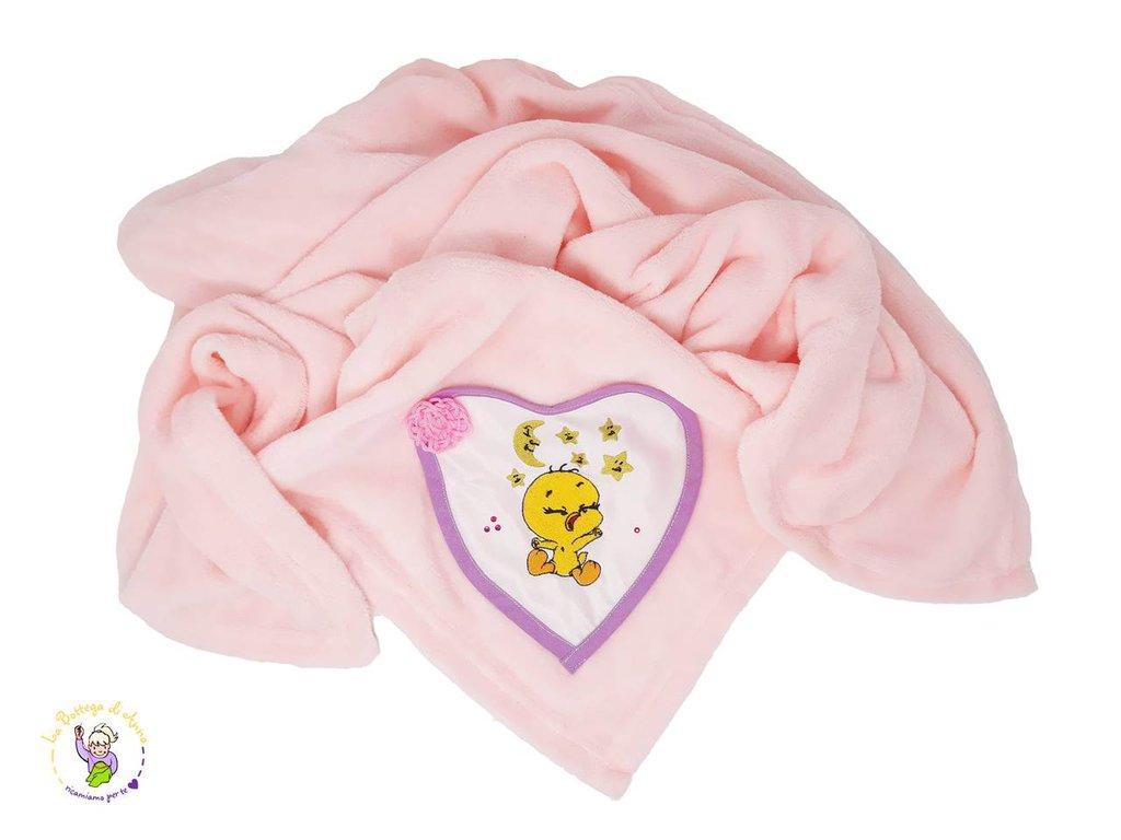 Pile rosa personalizzato con ricamo di Titty