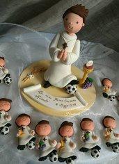 cake topper comunione calcio