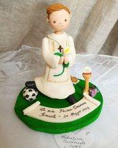 cake topper comunione pallone calcio