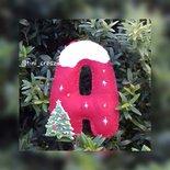 Addobbi di natale, Lettere di  Natale in Feltro, Lettera Decorazione Natale, Albero di Natale