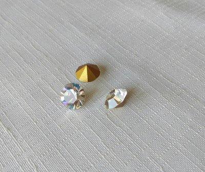 Crystal Clear 47 ss strass Swarovski gold foiled