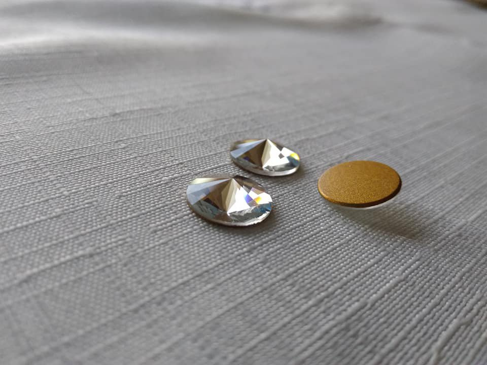 Swarovski Cabochon Crystal  12 mm art. 2006 gold foiled