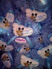 Bomboniere personalizzate con doppio tulle,confetti e bigliettino