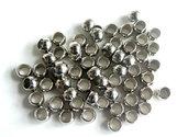 20 Perle a foro largo argento acrilico  PFL187