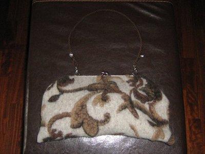 pochette in lana cotta