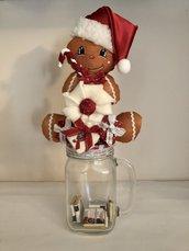 Natale - barattolo porta caramelle con ginger