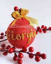 Natale - Palline albero personalizzate con nome