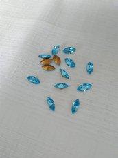 Swarovski  art. 4228 15 x 7 mm Navette  acquamarina