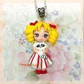 Collana fimo Candy Candy fimo dolls necklace clay Kawaii