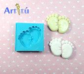 Stampo artigianale ORIGINALE battesimo piedini bebé, stampo in silicone flessibile, stampo nascita, battesimo. Stampo per gesso ceramico, resina