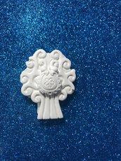 Albero della vita con bavettina gesso ceramico per fai da te