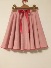 Gonna romantica in felpa rosa per bambina