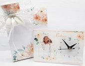 Bomboniera orologio comunione cresima matrimonio battesimo foto personalizzata