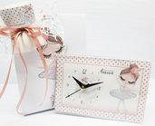 Bomboniera orologio ballerina cigno comunione cresima battesimo personalizzata